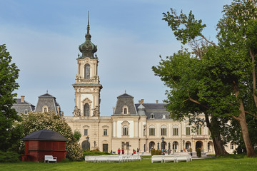 Beautiful old castle (Festetics) in town Keszthely in Hungary.