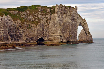 Etretat, France - may 10 2017 : picturesque seaside town in summer