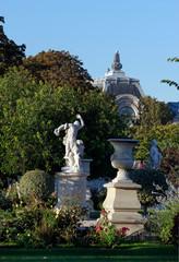 Statue of the Tuileries garden in Paris
