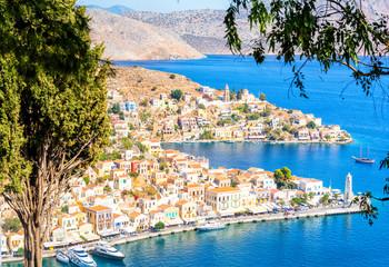 beautiful view on Symi island, Greece