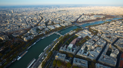 Panoramic view of Paris cityscape