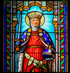 Saint Ferdinand - Stained Glass in Antibes Church