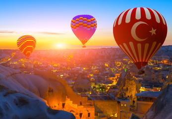 hot air balloon flight over Cappadocia Turkey