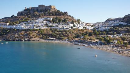 Cityscape of Lindos, Greece