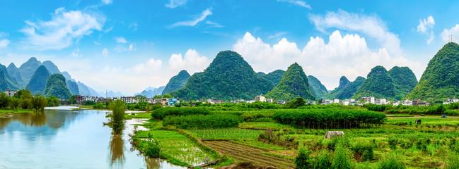 Landscape Scenery in Guilin, Guangxi..