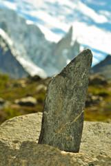 roca simulando el perfil del cerro Torre