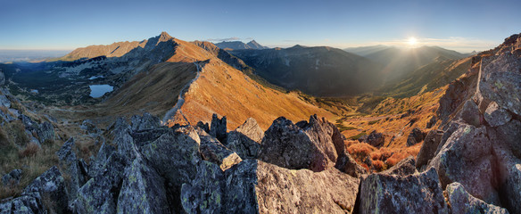 Autumn mountain landscape in Poland Tatras