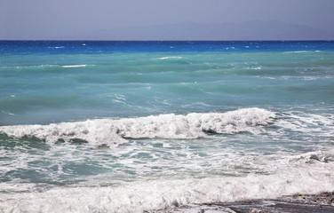 Aegean sea near Prasonisi. Rhodes island. Greece