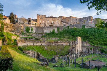 Archaeological place at Volterra, Italy