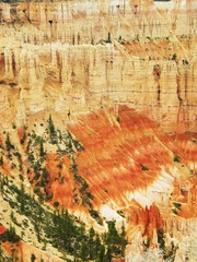 Bryce canyon Utah dégradé de teintes orangées vertical / colorful oranged degraded rock in Bryce Canyon vertical Utah