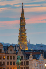 Brussels. Town Hall Tower.