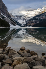 Winter view of Lake Louise in the Banff National Park, Alberta, Canada