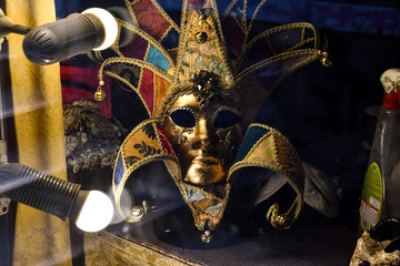 venetian carnival mask on black background, digital photo picture as a background