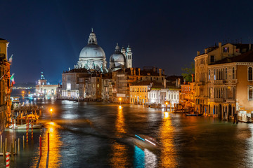 Night at the Grand Canal in Venice