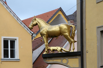 The horse, symbol of Ellwangen, Germany