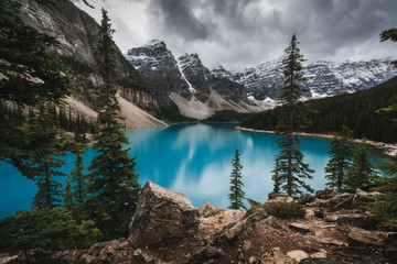 Moraine Lake in Banff National Park in Canada