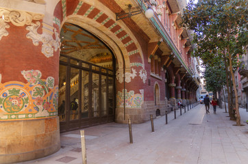 Barcelona, Spain, the Palace of Catalan music