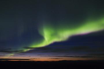 colorful aurora display
