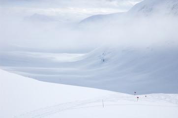 narciarstwo biegowe szlak pieszy kungsleden