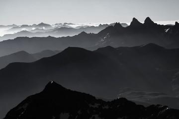 panorama massif des grandes rousses