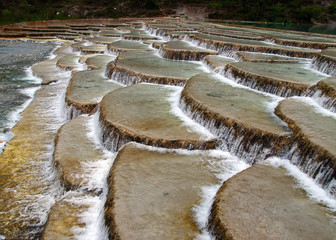 an unique river bed formation in lijiang china