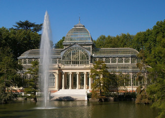 glass hall at park del retiro madrid