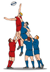 Rugby lineout throw