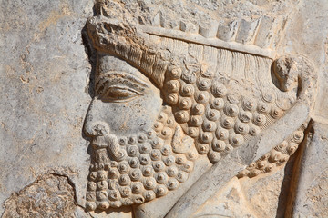 Bas-relief of Persian soldier from Persepolis