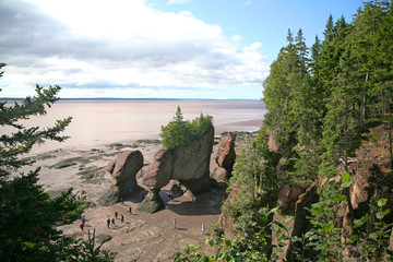 Hopewell Rocks, tNew Brunswick, Canada at low tide.