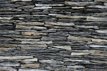 irish flat stone wall