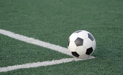 Football in stadium