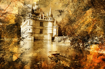castle - artwork in painting style