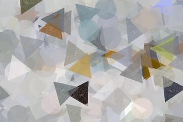 Geometric shapes illustration. Brush paint pattern.