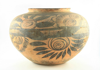 American Indain pottery side view