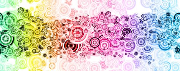Original abstraction in iridescent tones