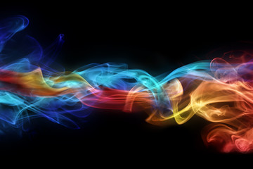 Abstract colorful smokes