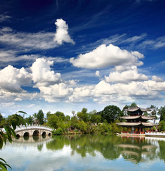 A scenery park in Lijiang China