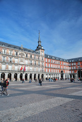 Sur la plaza mayor de madrid