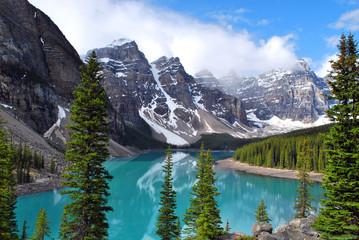 Morena jezioro w Banff parku narodowym, Alberta, Kanada