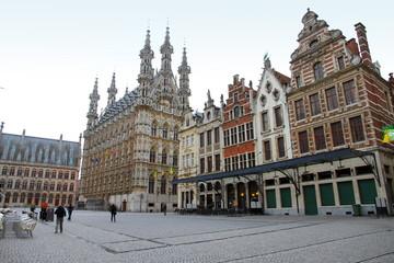 Grote Markt Town hall square Louvain  Belgium