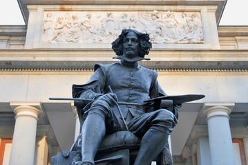 Madrid, Velázquez statue in Prado Museum