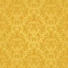 Luxury seamless golden floral wallpaper