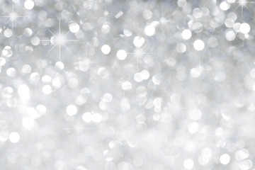 Srebrne tło z gwiazdami