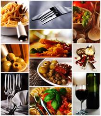 Kuchnia włoska - kolaż