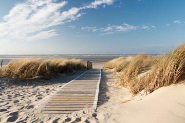 Plaża nad Morzem Północnym na Langeoog