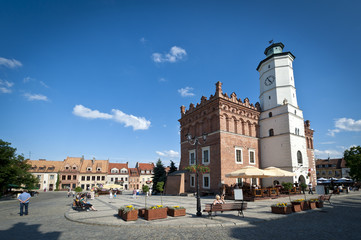 Panorama of Old Town in Sandomierz, Poland