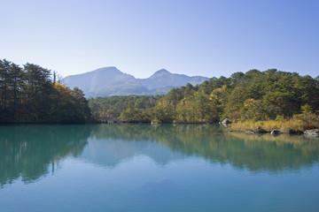 五色沼からの磐梯山