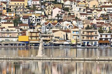 Traditional greek city of Argostoli at Kefalonia