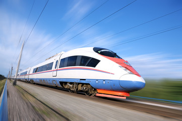 High-speed commuter train.