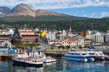 Ushuai Harbor,Tierra del Fuego. Argentina